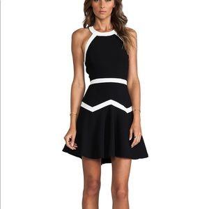 "Parker ""Rogue Combo"" Black & White Dress"
